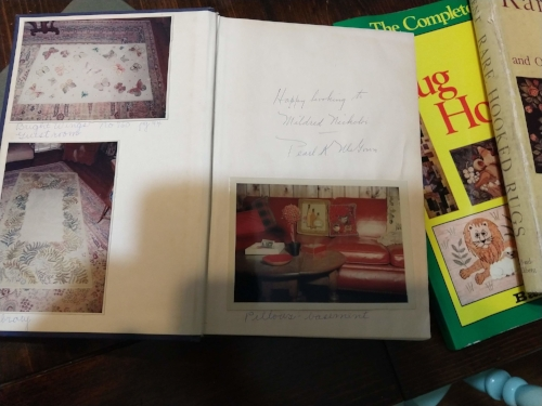This one has Pearl McGown's signature and pictures of the previous owner's rugs and where they are.