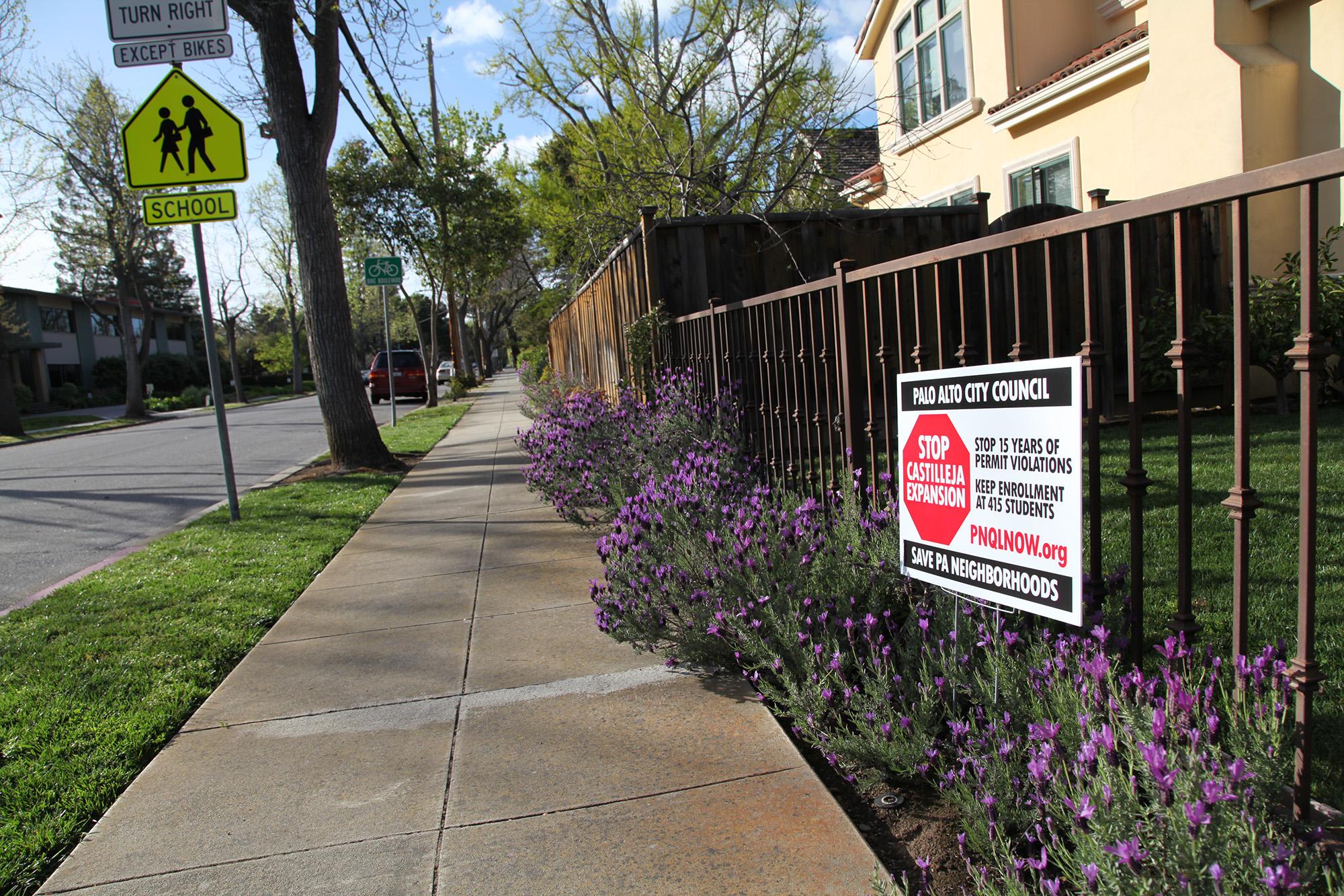 castilleja school misleads neighborhood