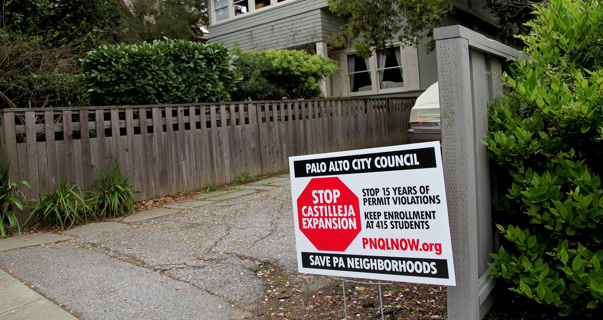 palo alto residents fight private school