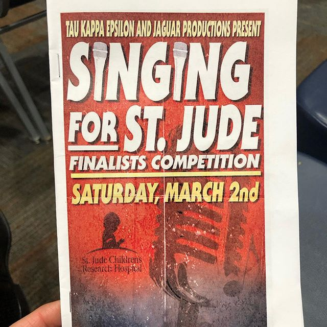 "First Note was honored to judge the Tau Kappa Epsilon and Jaguar Productions ""Singing For St. Jude"" competition at the University of South Alabama last night. Tommy Jackson and @paytonashleymusic were the judges. Austin Harler and Levi Davis hosted an amazing night of talent from all genres of music. @wjeremiah97 was the winner and won the opportunity to have a song recorded and produced! We congratulate all the contestants for participating and putting on an incredible show!"