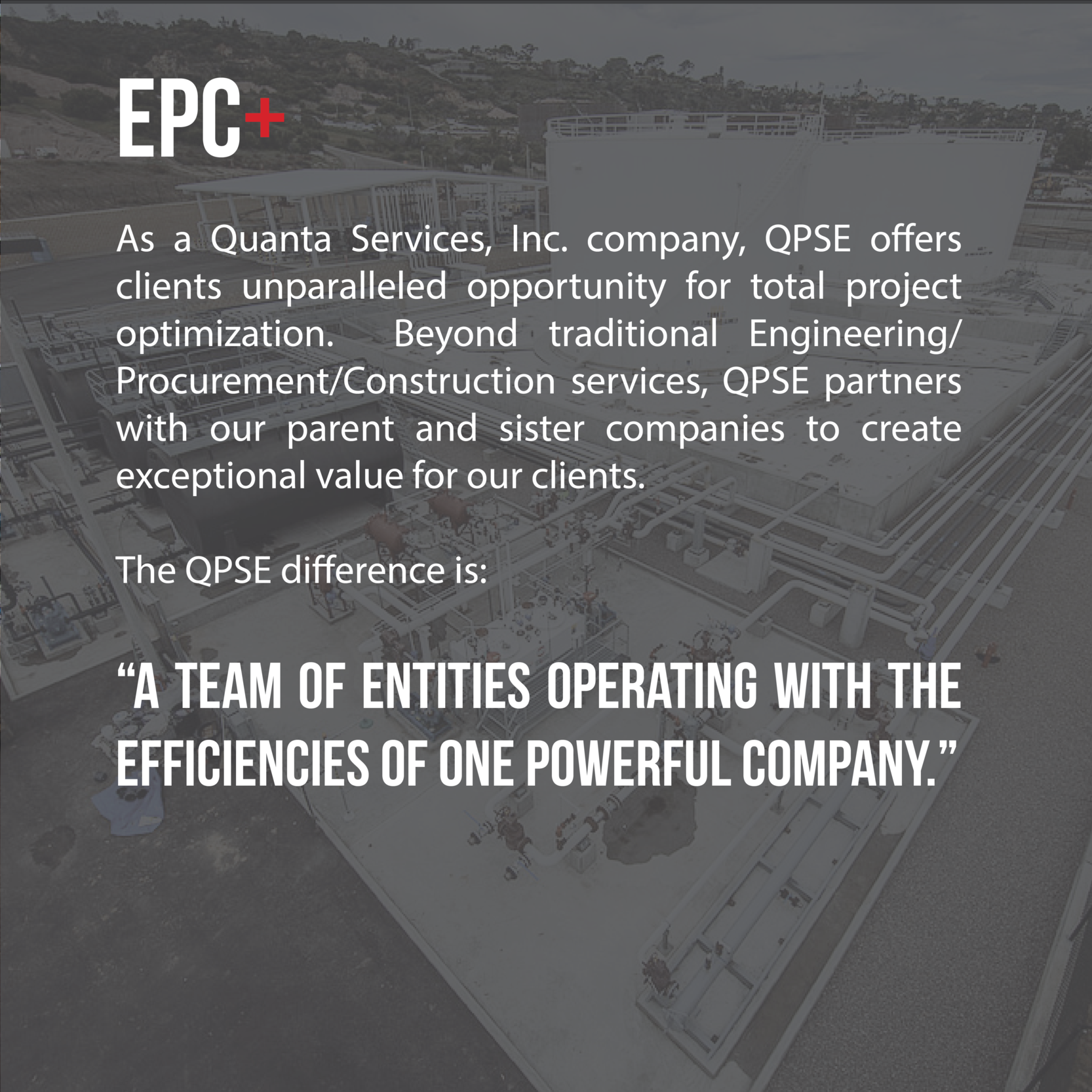 QPSE, project, optimize, optimization, engineering, procurement, construction, value, pipeline, facilities, oil, gas, specialty, contractor, effient, efficiency, turnkey, solutions