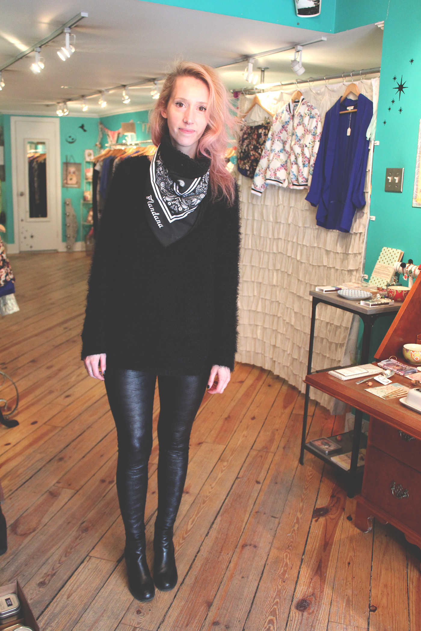 Alina Alter stands in her eclectic shop, Aoki Boutique.
