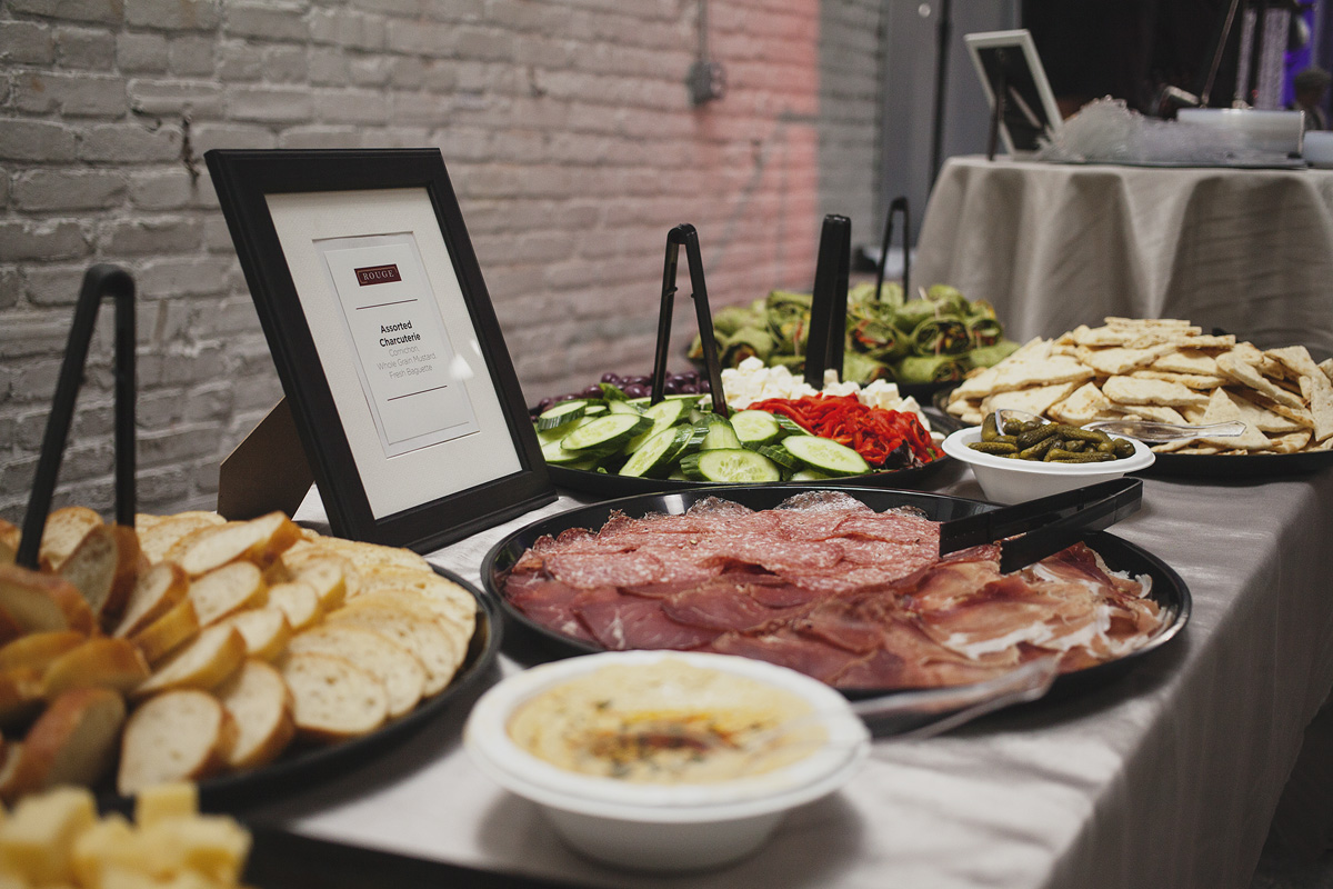 Guests enjoyed food from Rittenhouse restaurant Rouge. The Rad Awards. April 18. 2015. The Dreaming Building. Chris Fascenelli/Rad-Girls.com.
