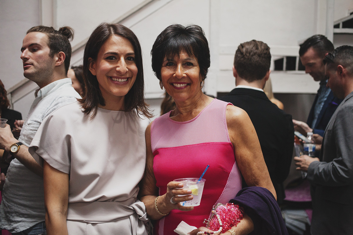 Rad-Girls.com founder Leah Kauffman stands with her mother, Janis Kauffman during The Rad Awards. April 18. 2015. The Dreaming Building. Chris Fascenelli/Rad-Girls.com.