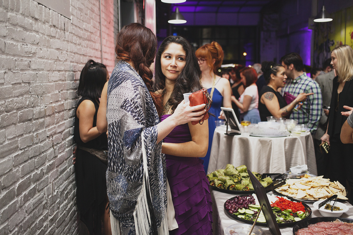 Attendees socialize at The Rad Awards. April 18th, 2015. The Dreaming Building. Chris Fascenelli/Rad-Girls.com.