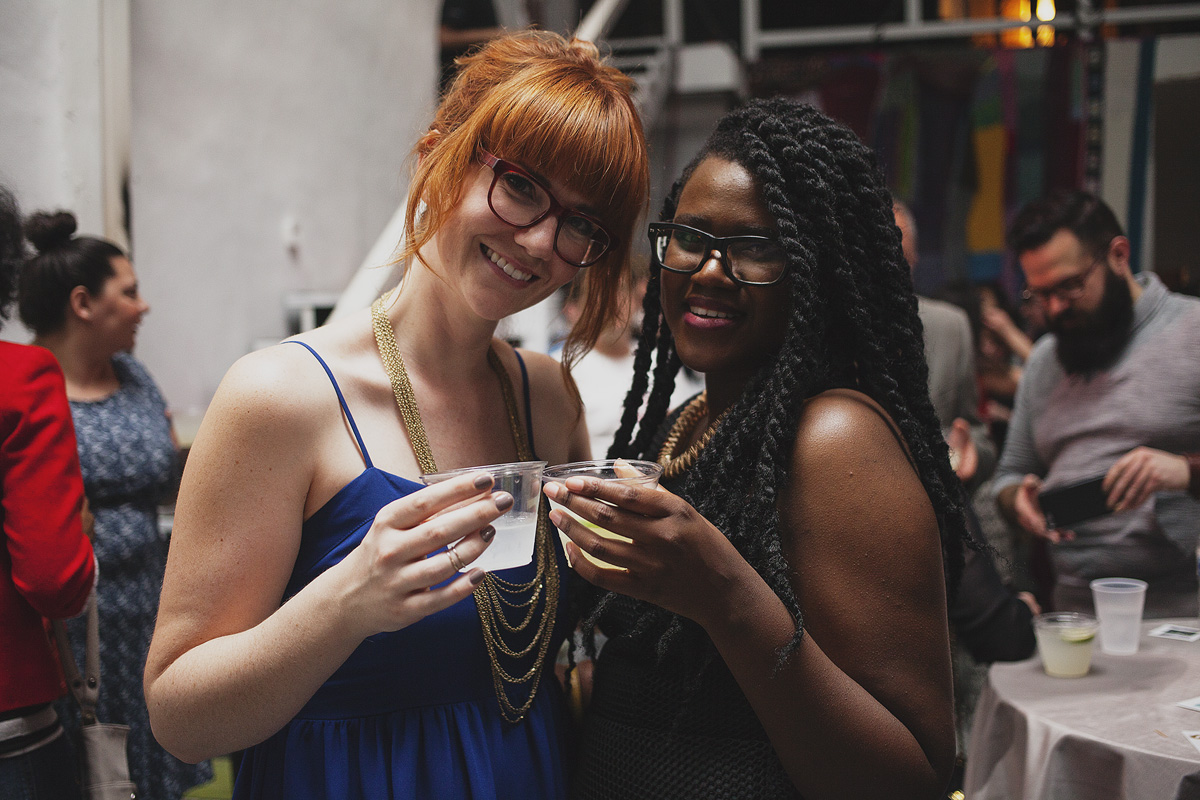 Attendees socialize at The Rad Awards. April 18th, 2015. The Dreaming Building. Chris Fascenelli/Rad-Girls.com