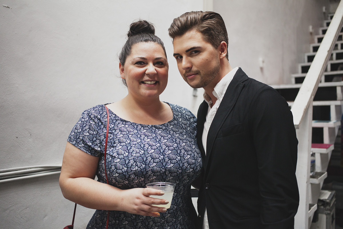 Kylie Flett and Ian Michael Crumm at The Rad Awards. April 18th, 2015. The Dreaming Building. Chris Fascenelli/Rad-Girls.com