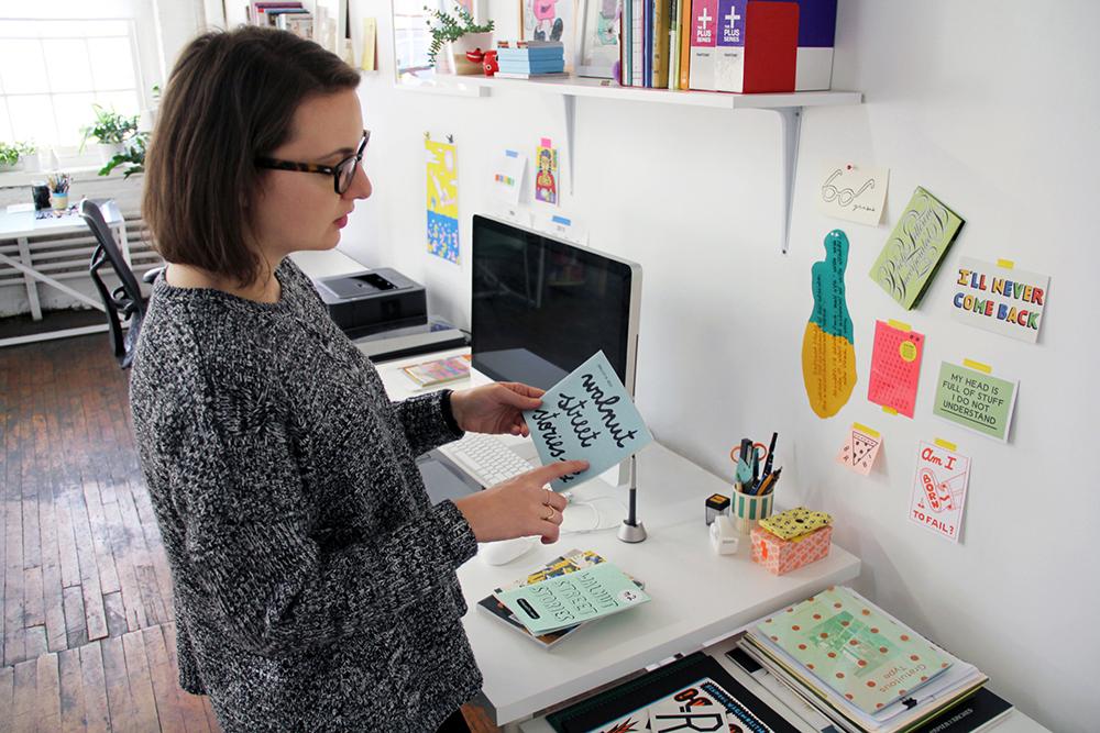 Margherita Urbani in her studio.