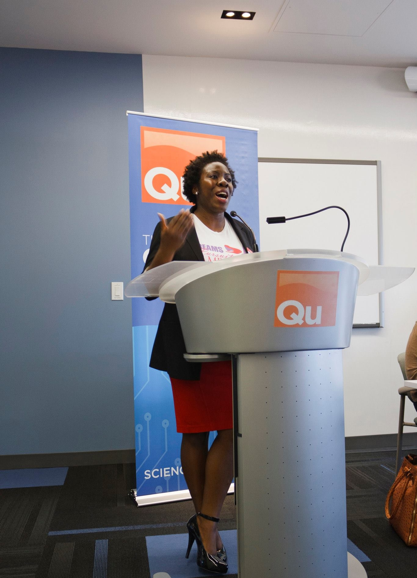 Jumoke believes that a leader should be a problem solver, a motivator, and a visionary. Photo by Christine Cavalier.