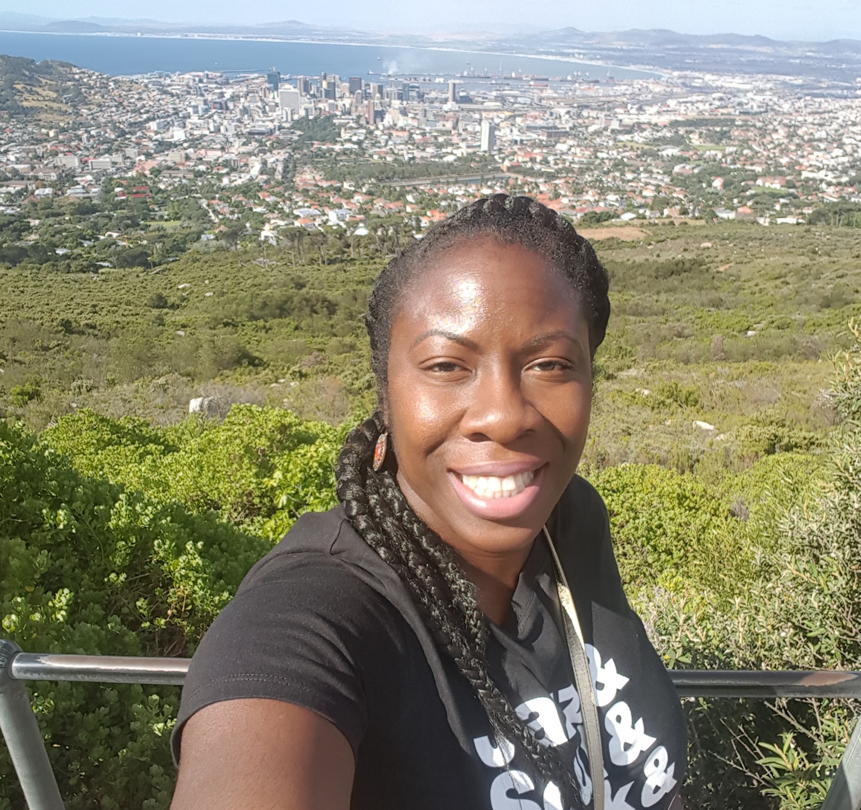 Jumoke visits Table Mountain in Cape Town, South Africa