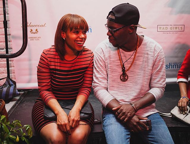 April 2015: Guests @sincerelysyreeta and @yusufyuie deep in conversation during the first ever Rad Awards.
