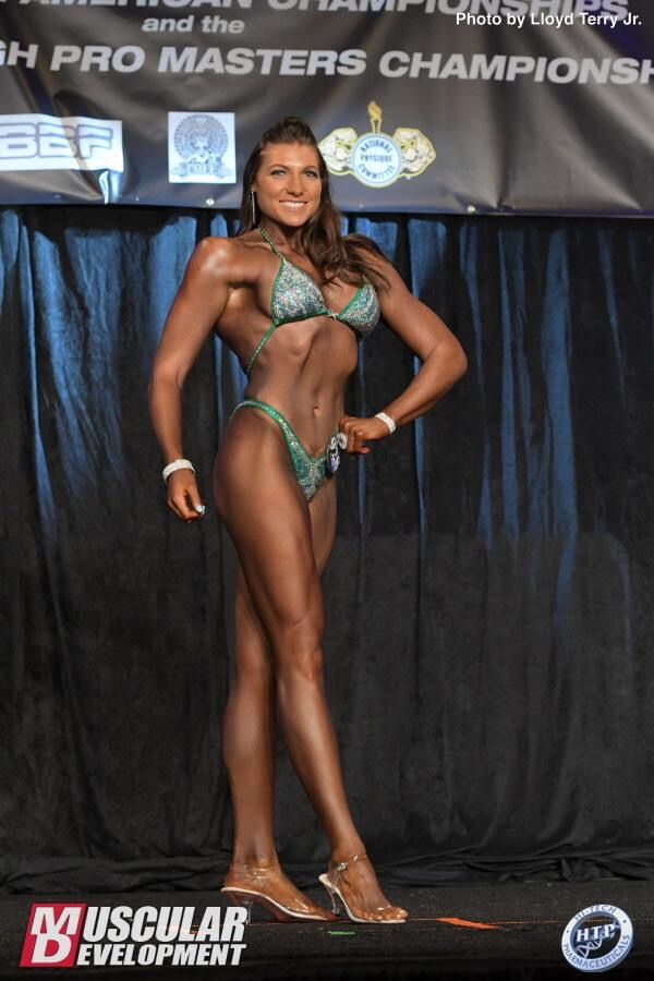 Kayla has taken the stage as a competitive figure athlete.
