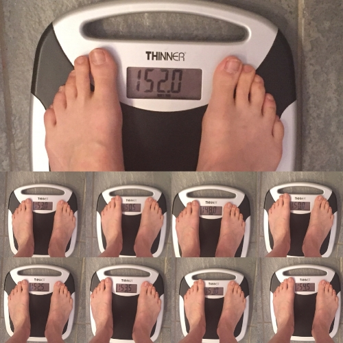 Over the course of days, anyone's weight can fluctuate pounds in either direction