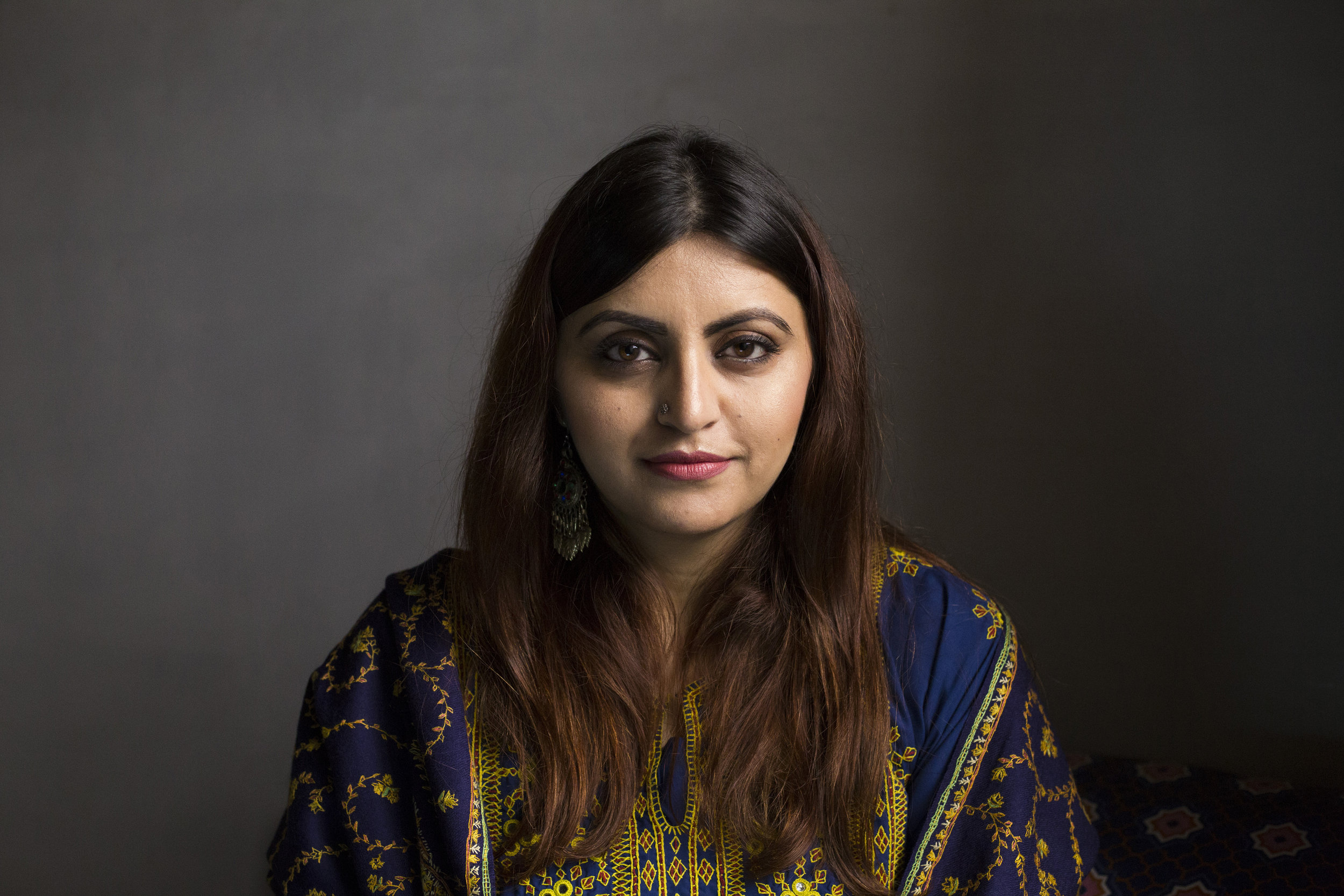 Gulalai Ismail, a human rights activist and chairperson of Aware Girls at her residence on January 11, 2019 in Islamabad, Pakistan.