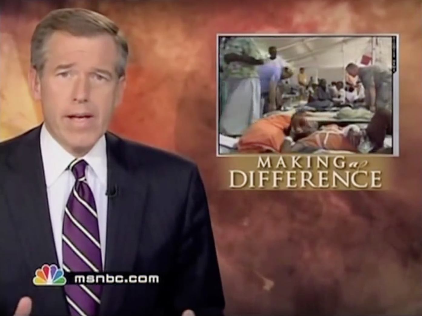 Brian Williams and NBC Nightly News story