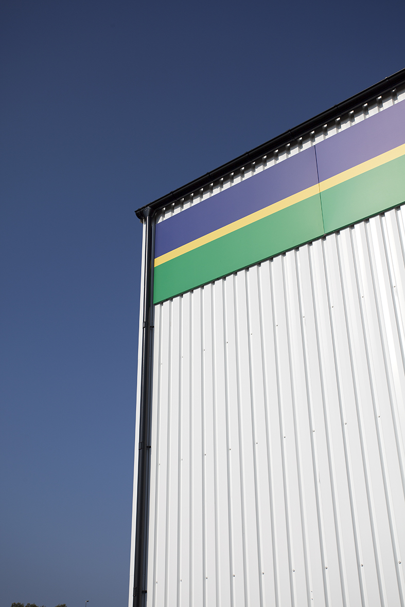 Euromaster Halmstad - detalj, vägg