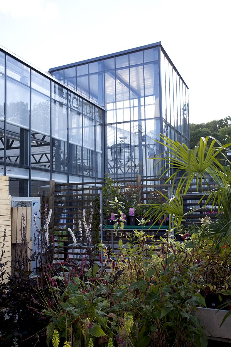 Grönkvist Blomsterhandel - detalj fasad