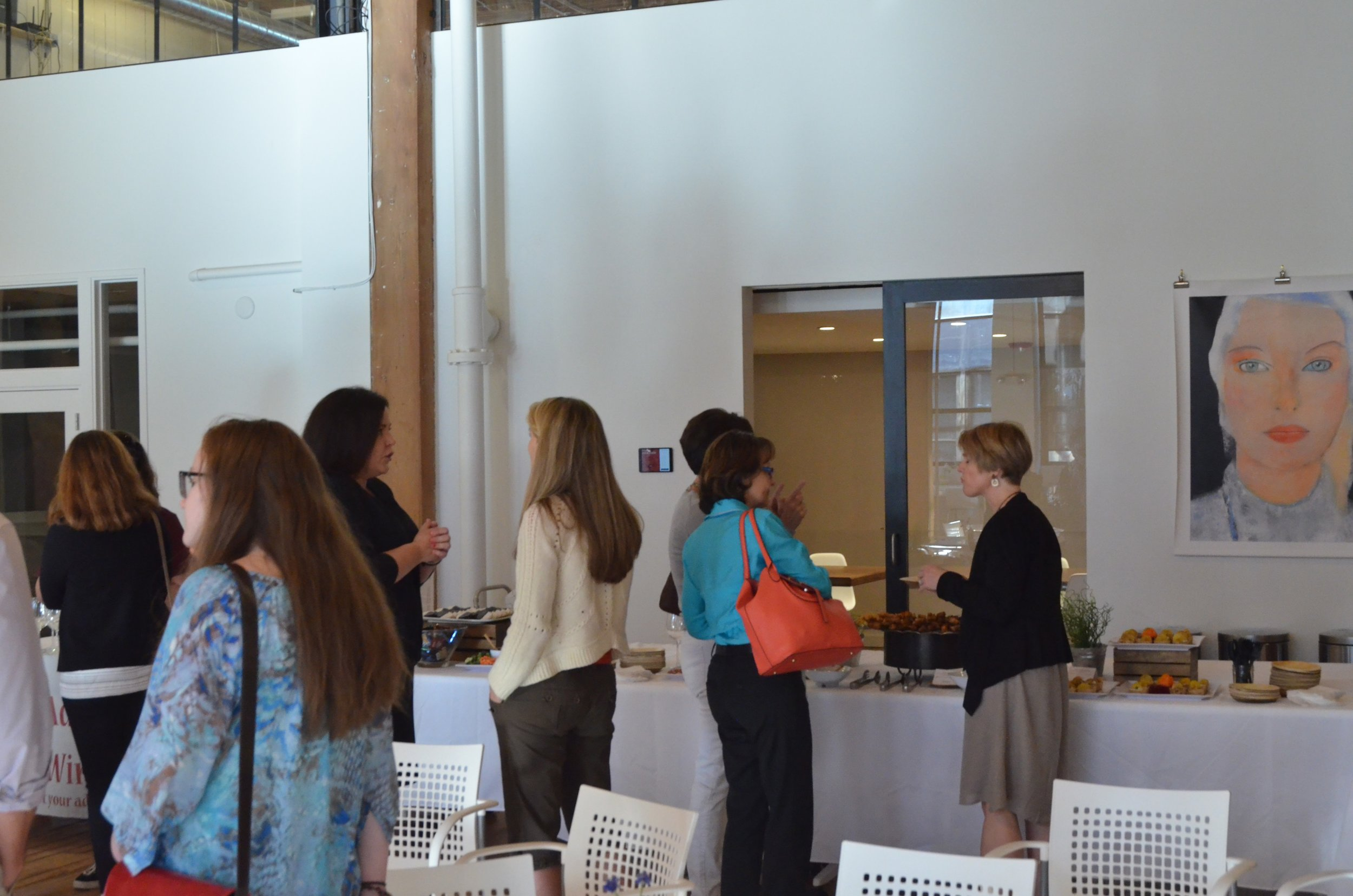 networking at The Leadership of You event