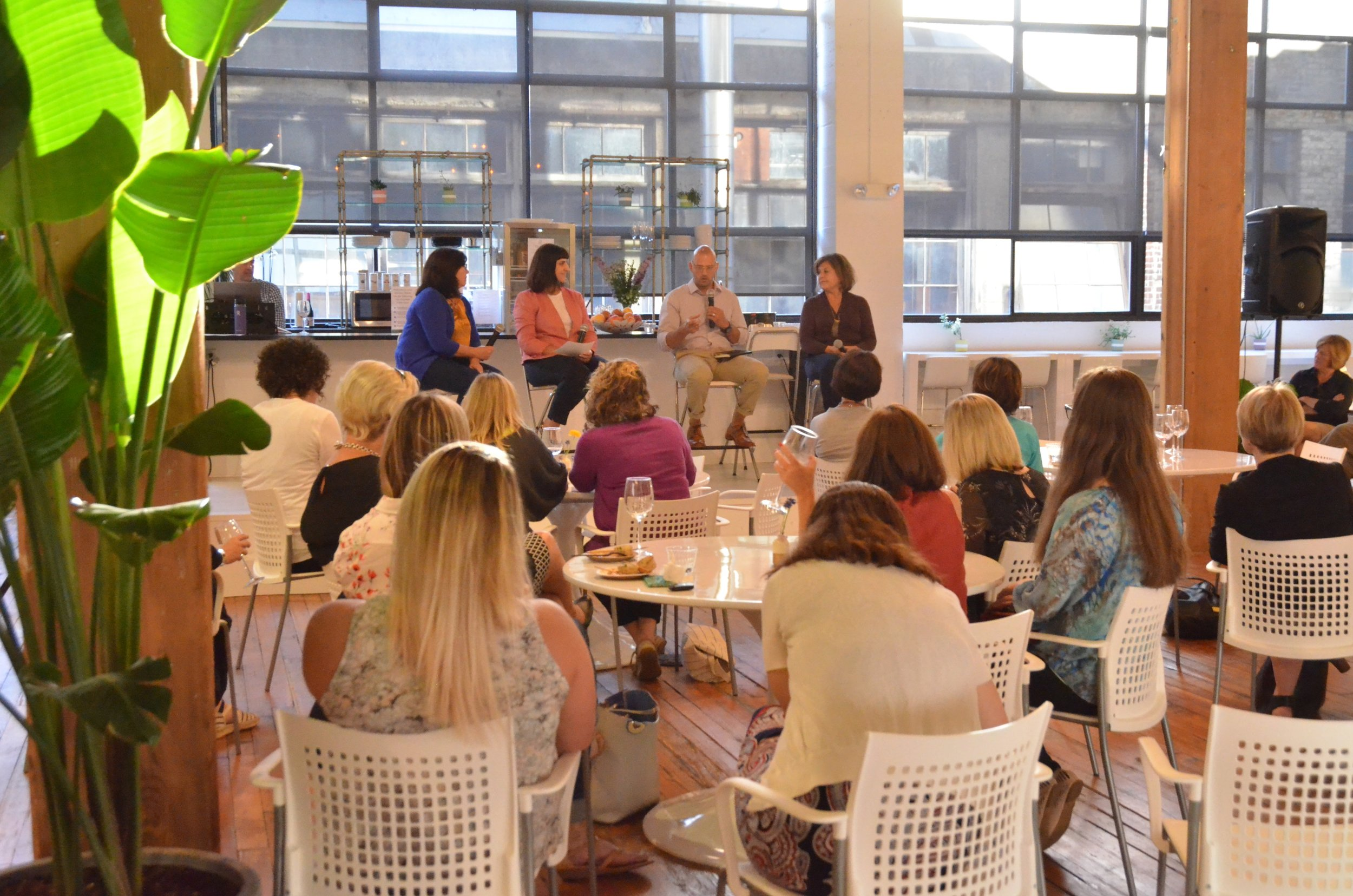 Speaker panel at The Riveter on the Leadership of You