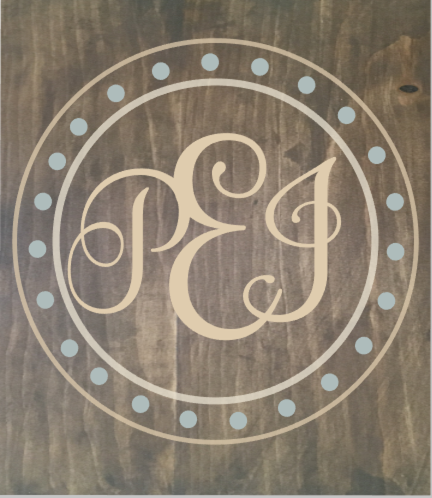 Monogram in Circle and Dots