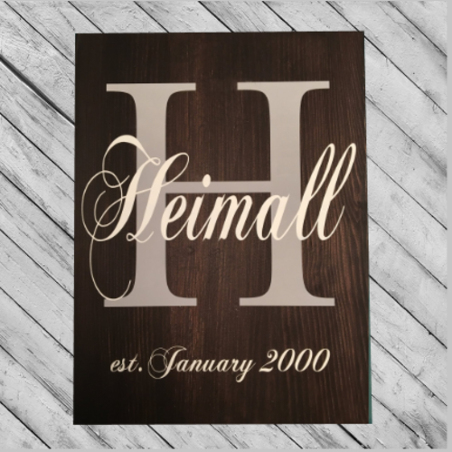 FAMILY SIGN #1 - PERSONALIZED 14X18