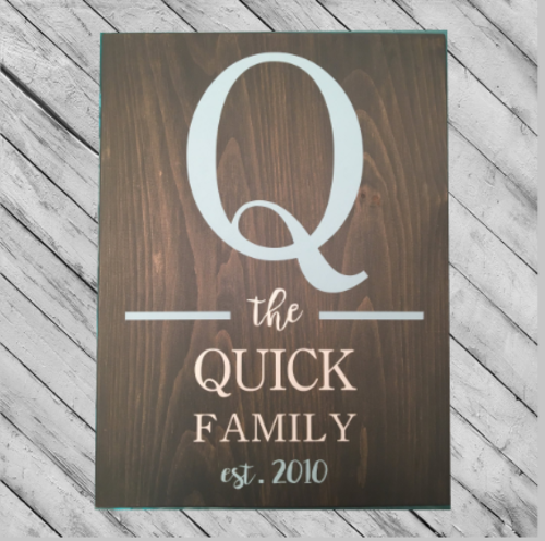 FAMILY SIGN #2 - PERSONALIZED 14X18