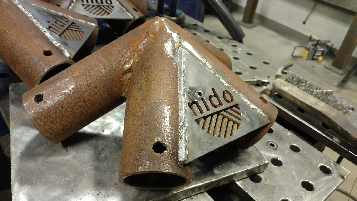 Got really good at welding - We made sooo many of these...