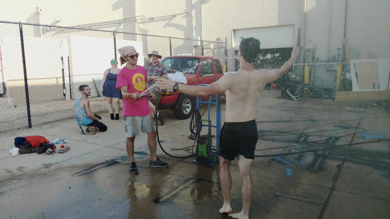 Took Hippie Showers -