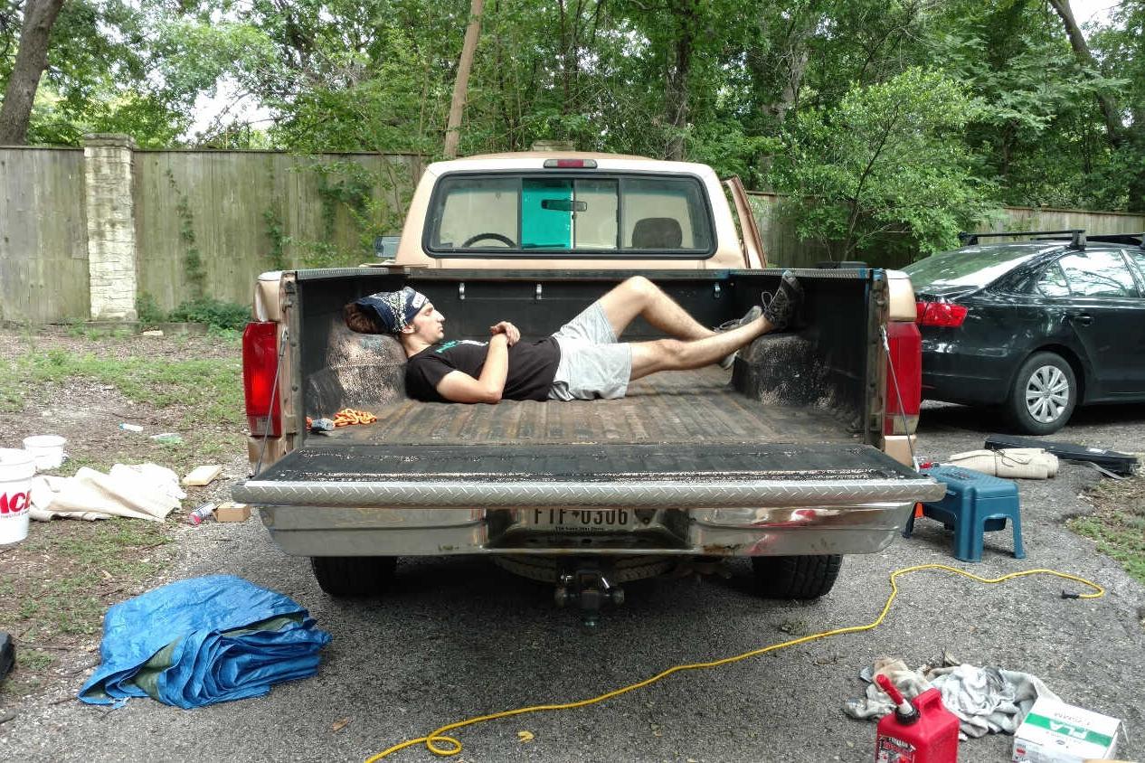 Took Pickup Truck Naps -