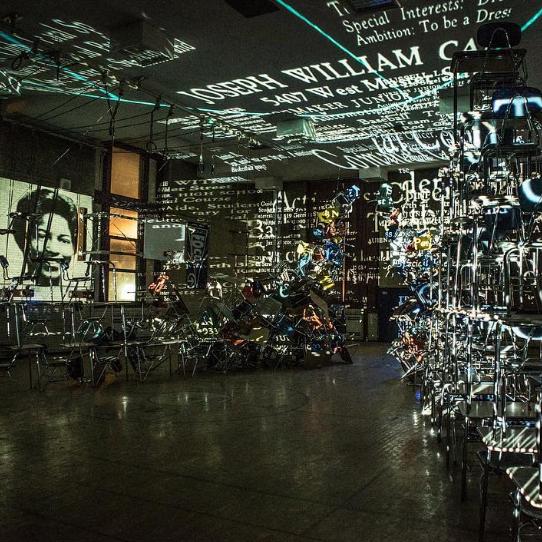 Klip Collective's Installation at the Bok Building in Philadelphia
