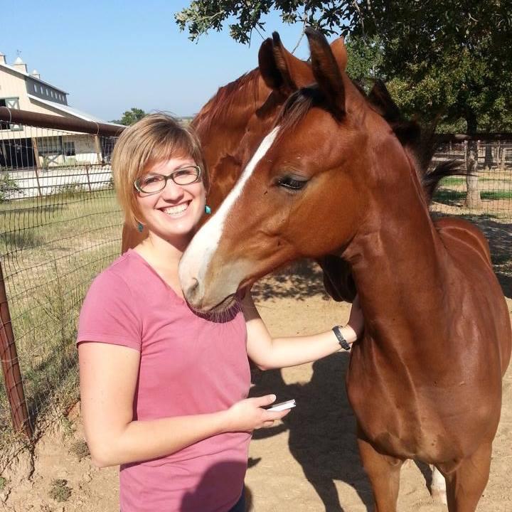 Sarah and Wild Oaks Ranch's young horse prospect Pythagoras
