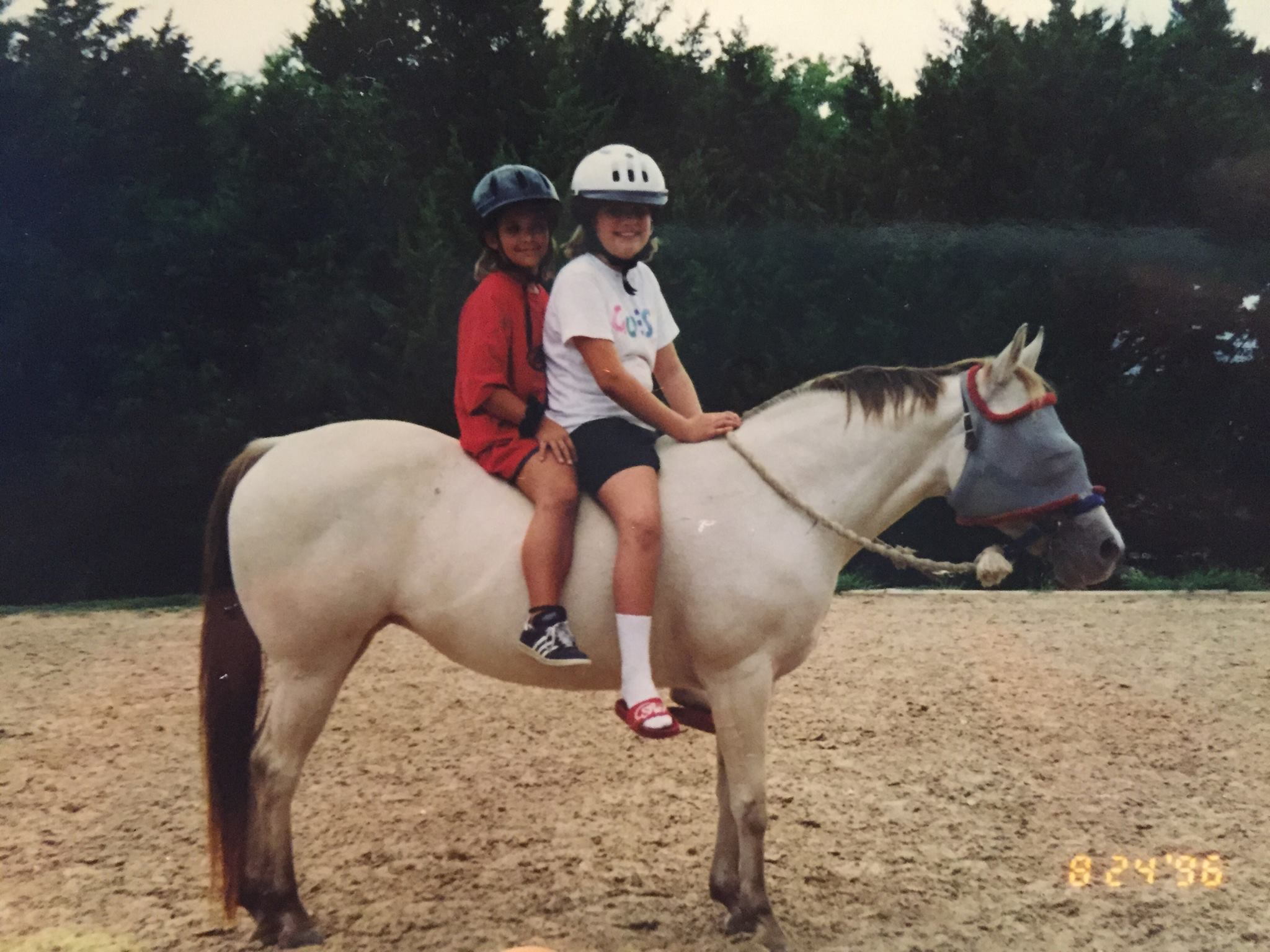 Sarah and her pony, Gingersnap