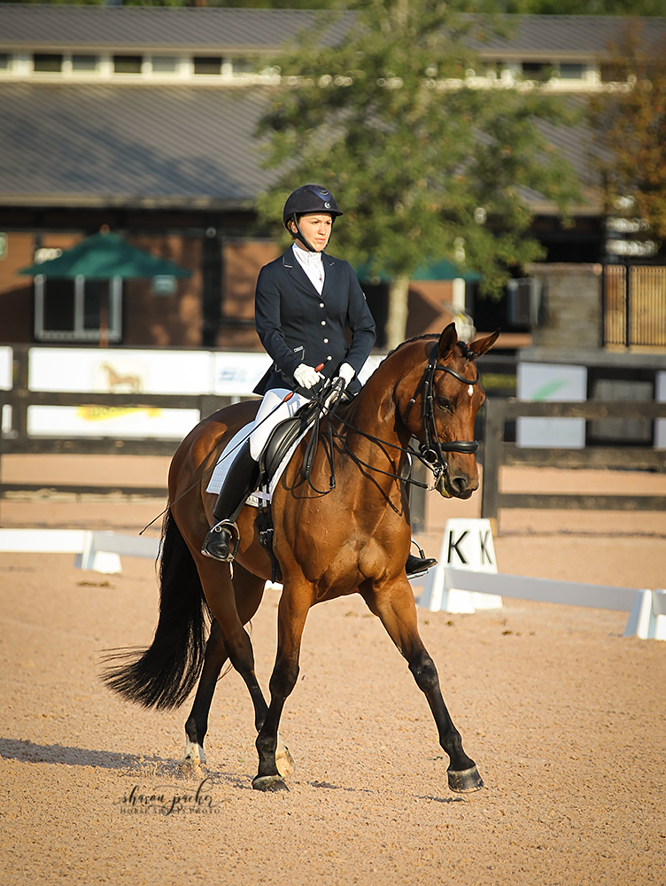 Sarah and her mare, Prada, at 3rd level