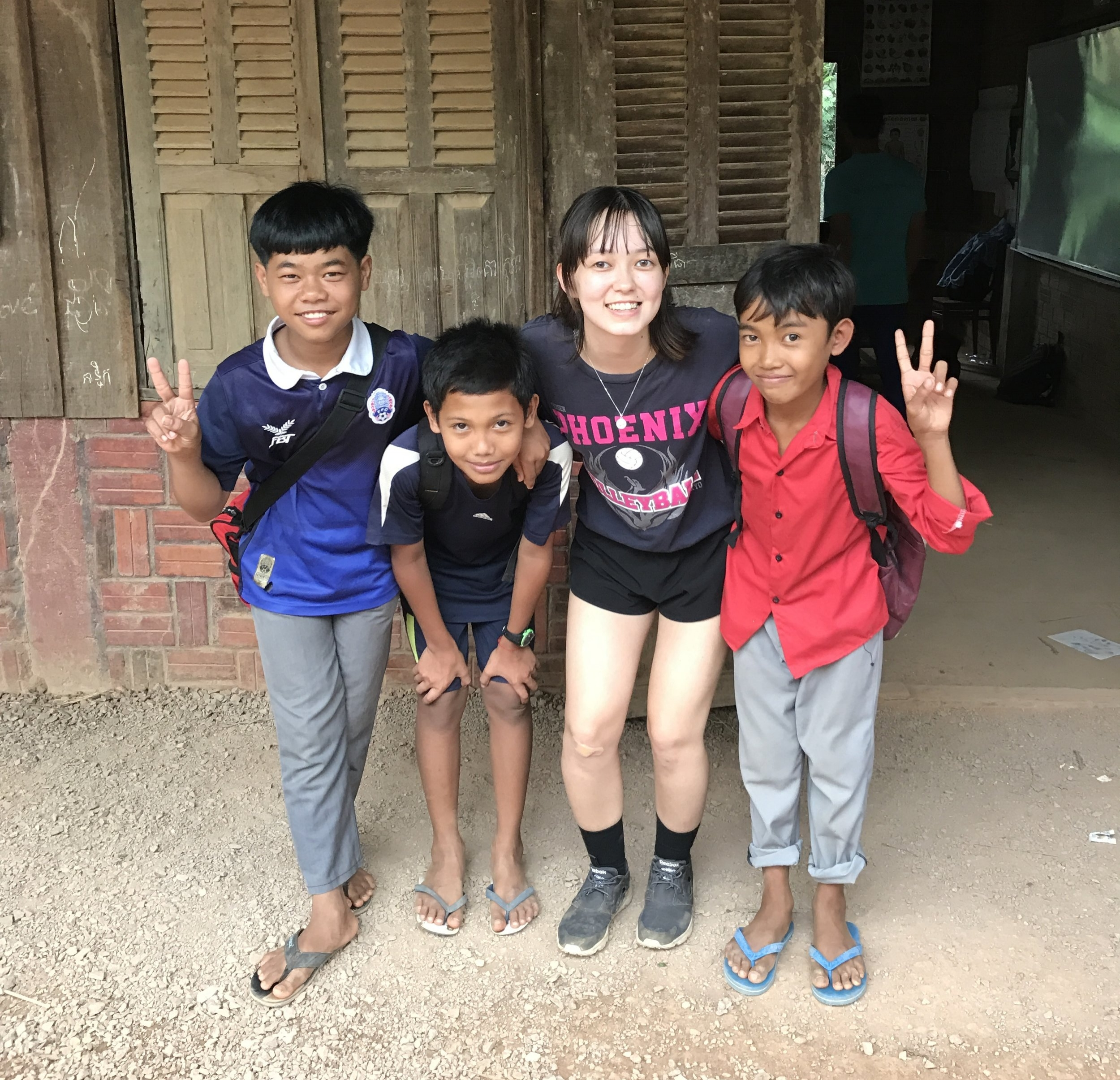 Shima with TASSEL students in Banan.