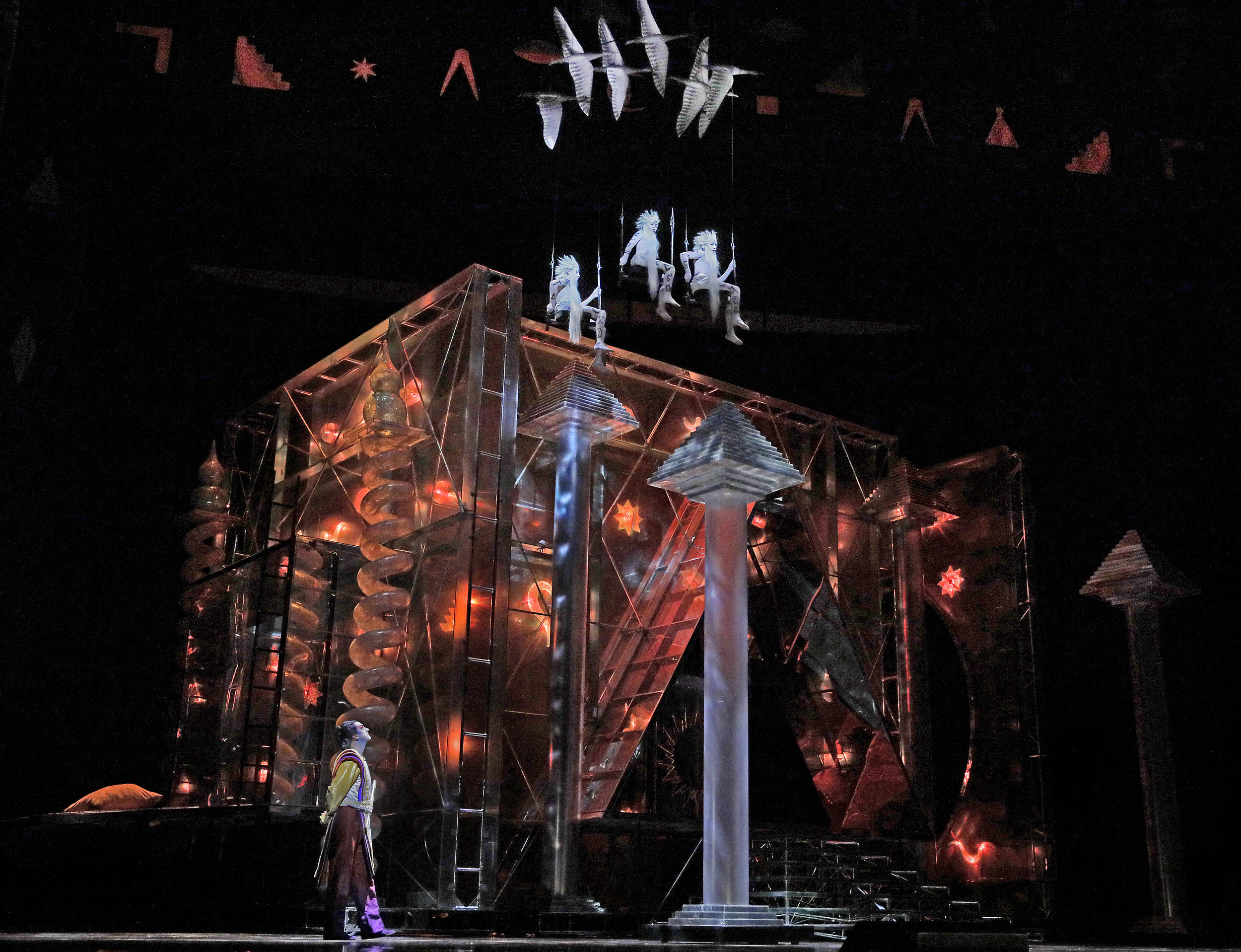 A scene from Mozart's   The Magic Flute  . Photo by Ken Howard.