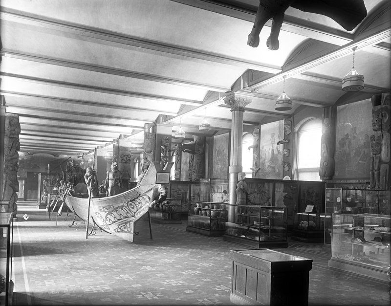 The Hall of Northwest Coast Indians at the American Museum of Natural History, c. 1920