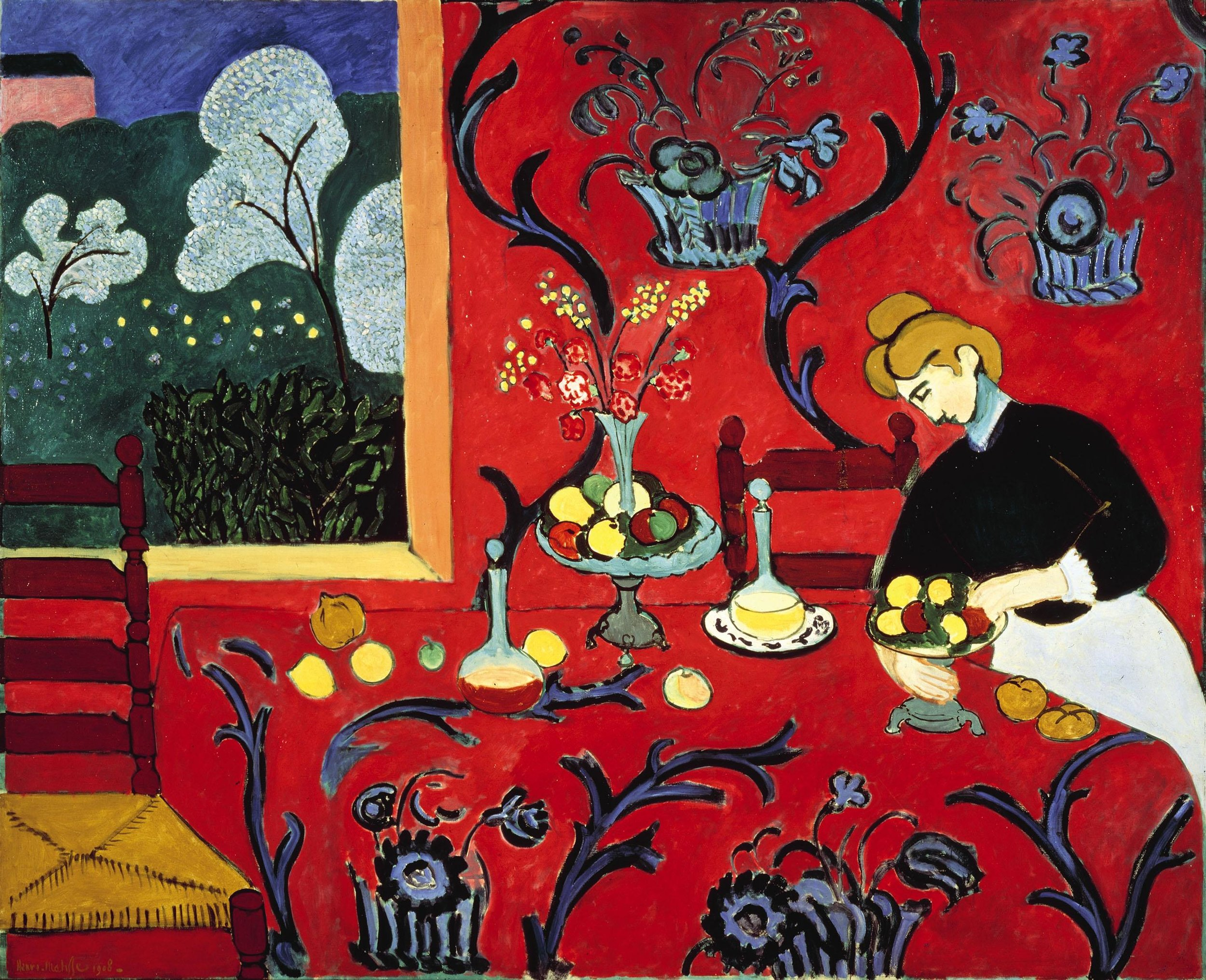 Red Room (Harmony in Red) (1908) by Henri Matisse; The State Hermitage Museum, St. Petersburg.