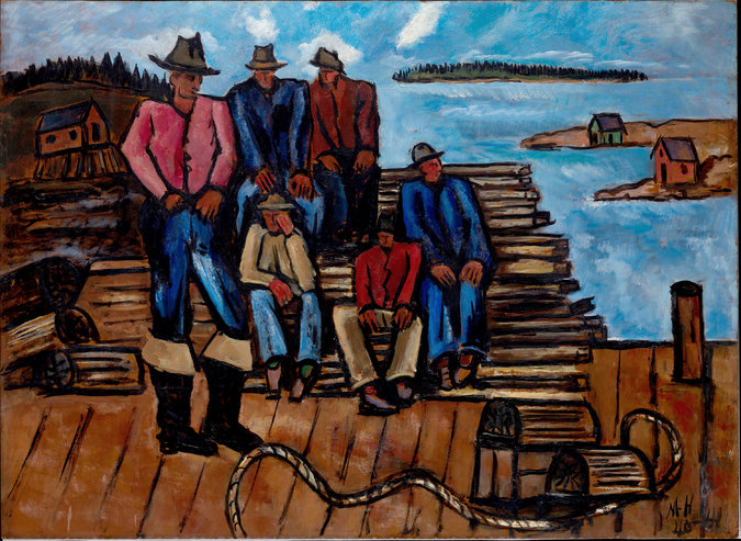 "Hartley's ""Lobster Fishermen"" (1940-41). Credit: Marsden Hartley/The Metropolitan Museum of Art"
