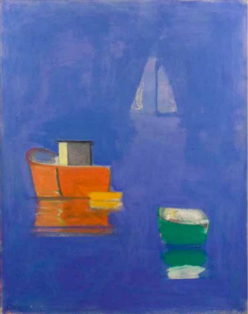 Paul Resika , Blue Sail, 1997–98 , Oil on canvas.