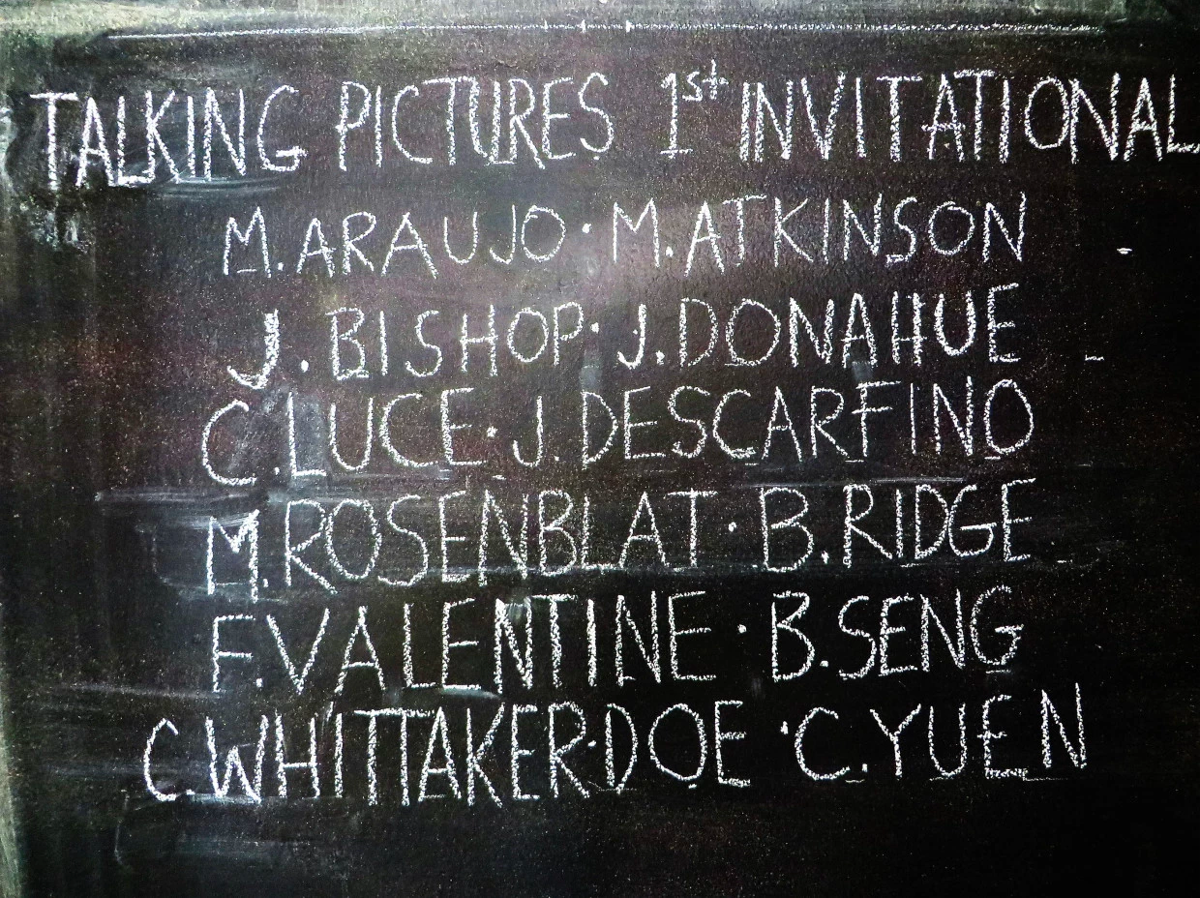 "The line-up of the ""Talking Pictures 1st Invitational"""