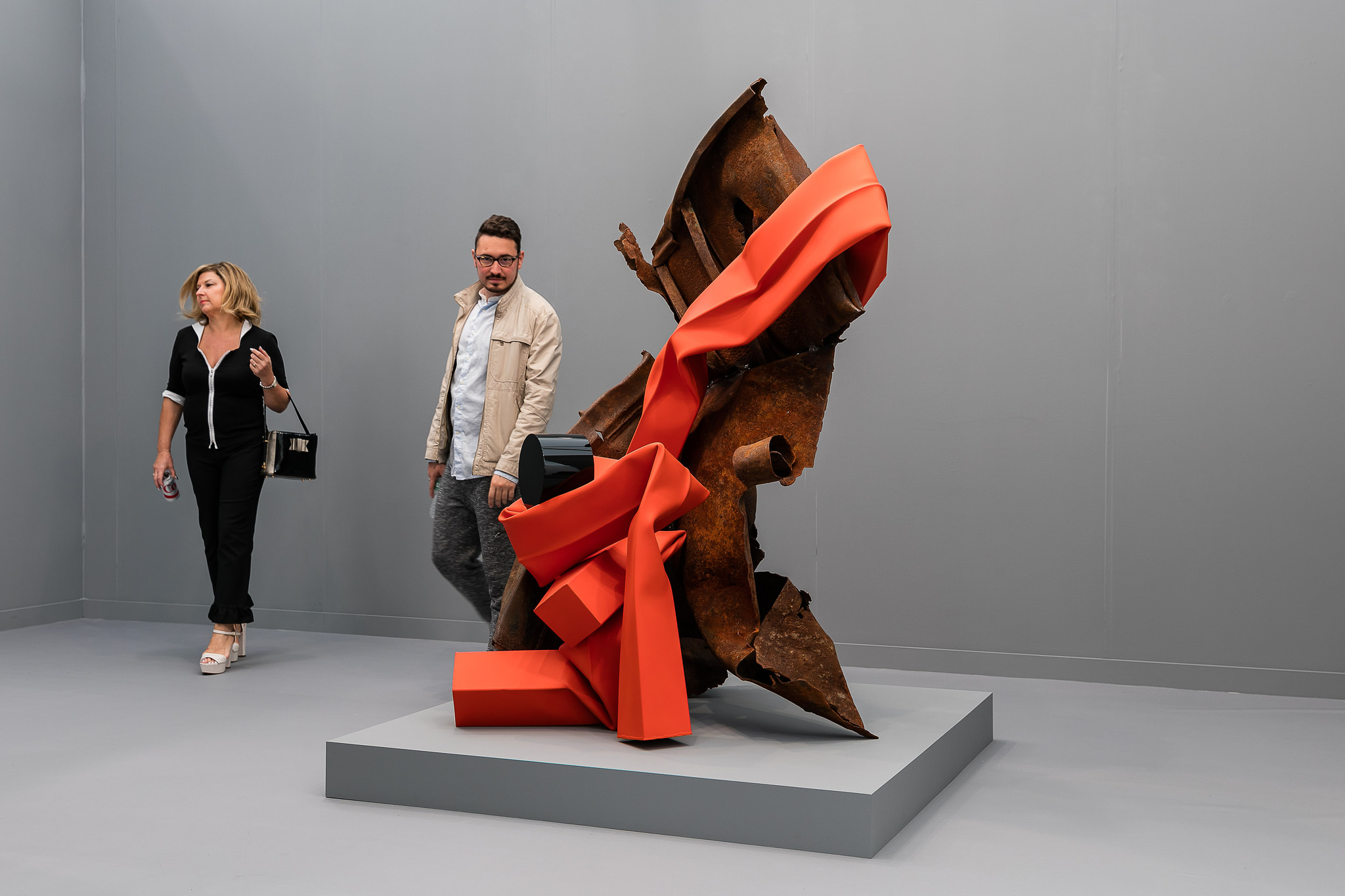 Sculpture by Carol Bove. Photo: Mark Blower / Frieze