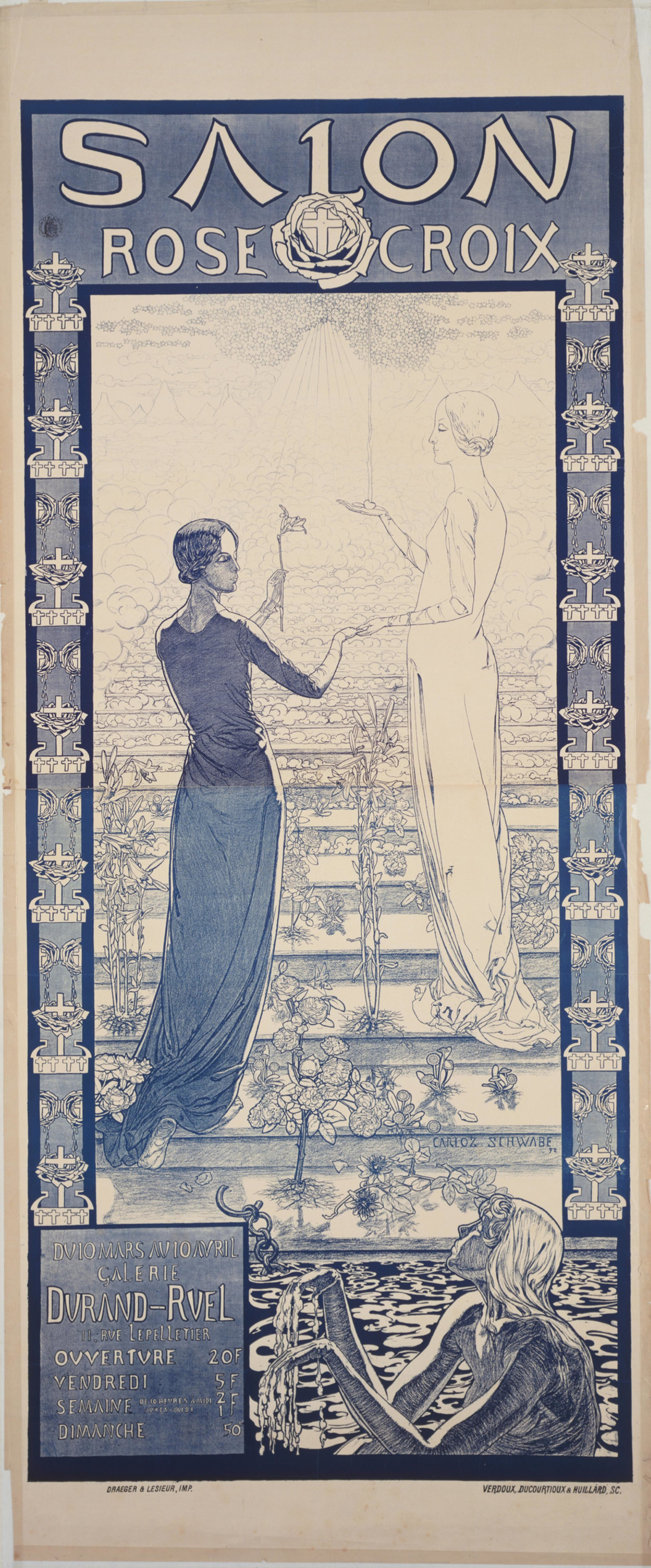 Carlos Schwabe's poster for the first Salon de la Rose+Croix (1892) PHOTO: THE MUSEUM OF MODERN ART/LICENSED BY SCALA/ART RESOURCE, NEW YORK