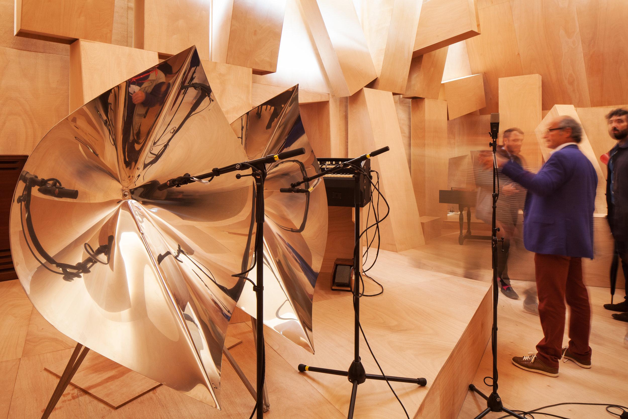 """Xavier Veilhan ,Installation shot, """"Studio Venezia,"""" 2017 . Photo: Francesco Galli , © La Biennale di Venezia"""