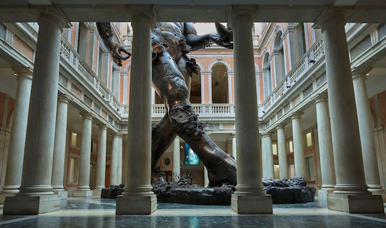 Damien Hirst , Demon with Bowl (Exhibition Enlargement),  2017 ,  Bronze ,  Palazzo Grassi .  Photo: Prudence Cuming Associates © Damien Hirst and Science Ltd.