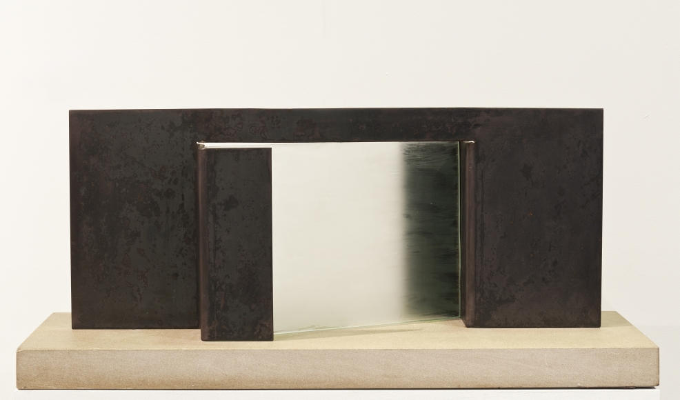 """Christopher Wilmarth , Macquette for """"Days on Blue"""", ca. 1974 , Glass and steel , Betty Cunningham Gallery"""