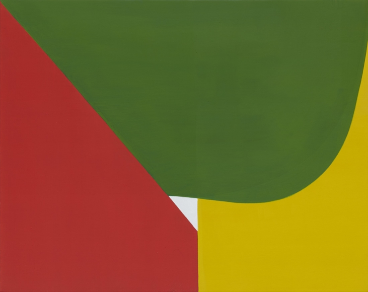 Eric Brown , White Triangle, 2017 , Oil on linen , Theodore:Art