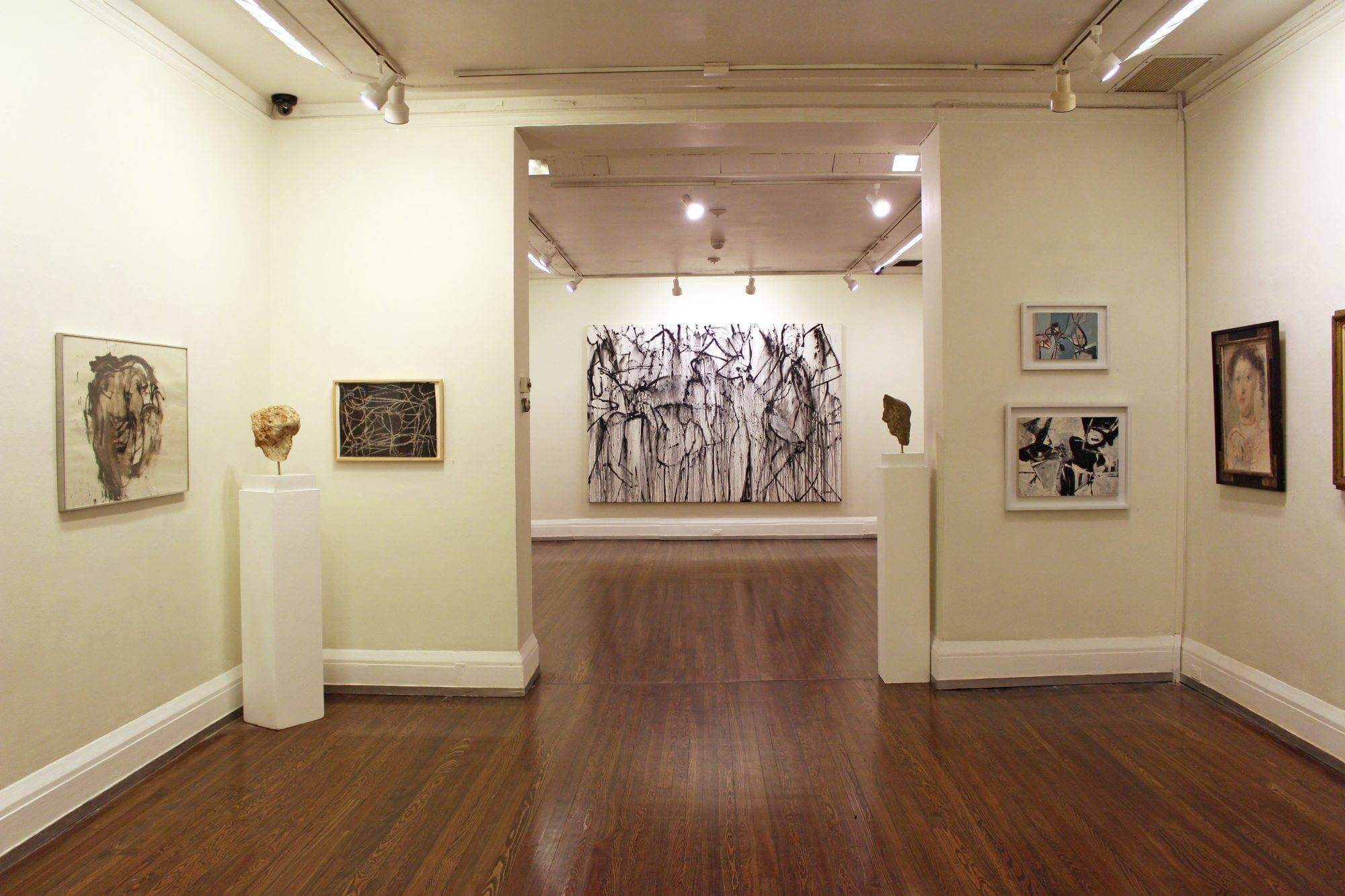 """Installation view of """"The Thing Unseen: A Centennial Celebration of Nicolas Carone."""" Photo: the New York Studio School."""