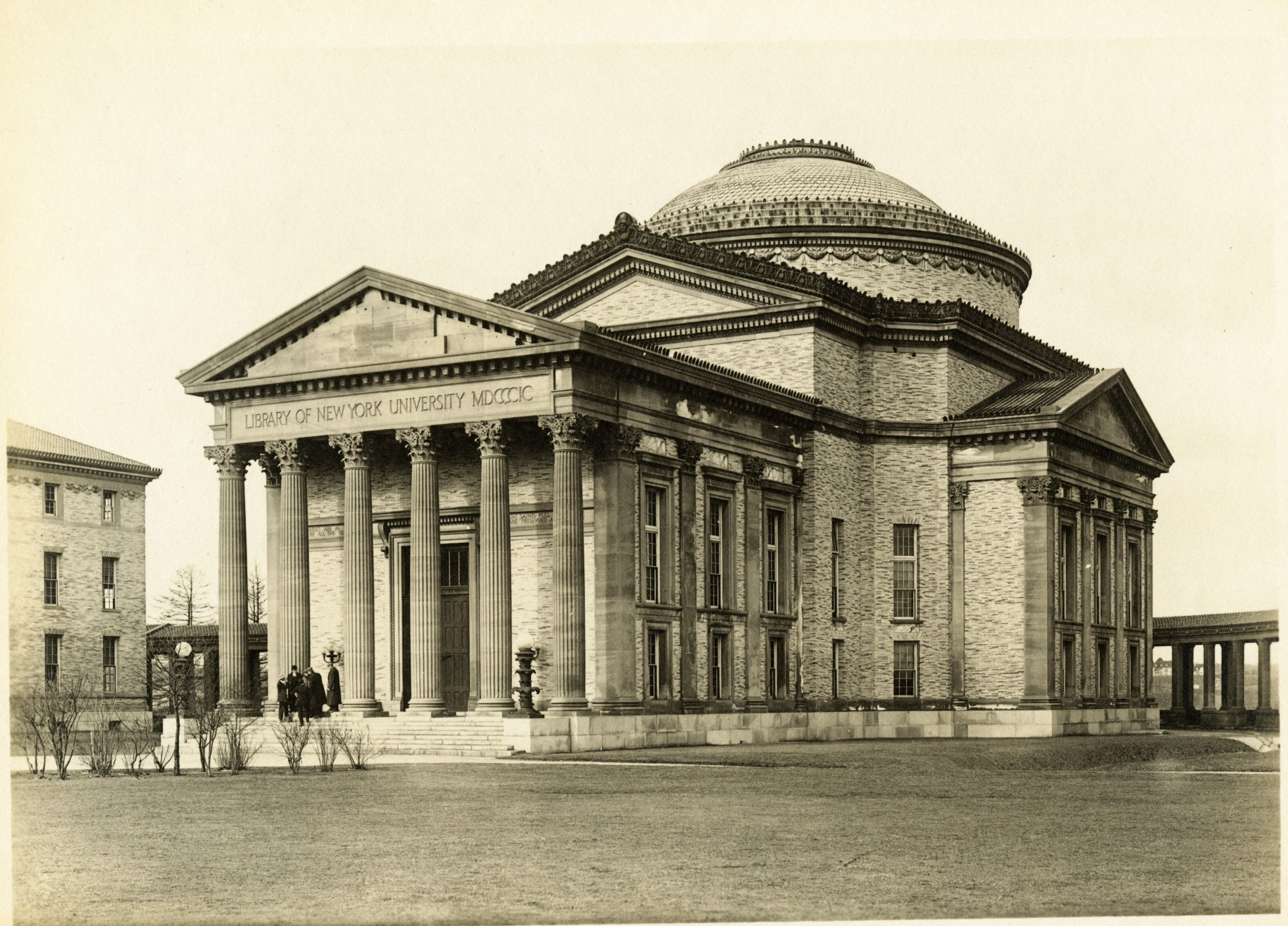 Stanford White's Gould Memorial Library soon after its completion. Photo:New York University Archives