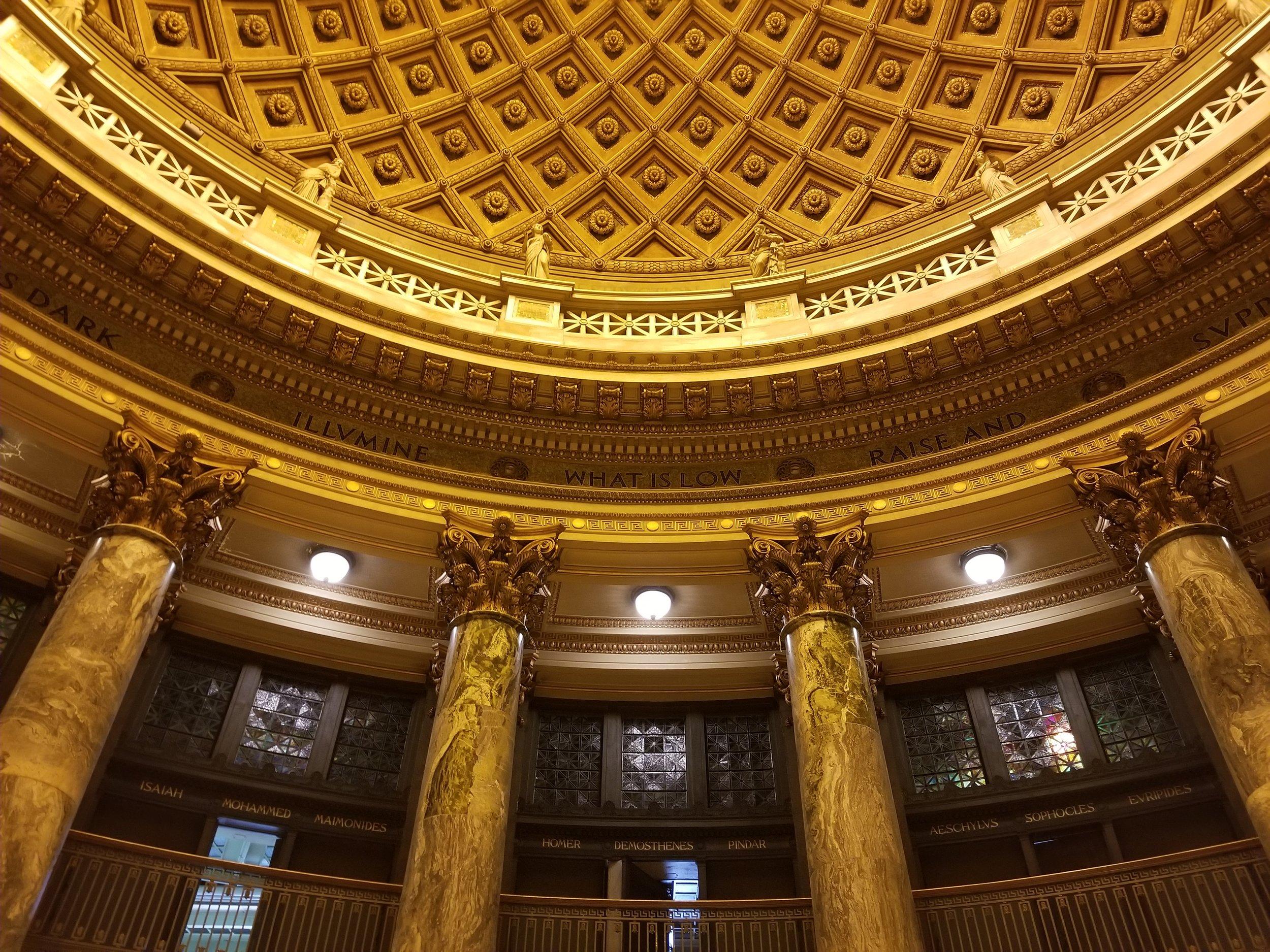 The Rotunda of Gould Memorial Library. Photo: James Panero