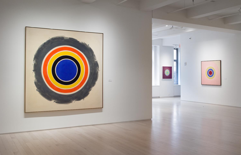 "Installation view,""Circles: Early + Late"" at Yares Art. Photo: Yares Art"